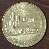 80 SAINT VALERY CHEMIN DE FER BAIE DE SOMME TRAIN MÉDAILLE MONNAIE DE PARIS 2019 JETON MEDALS COINS TOKENS - 2019