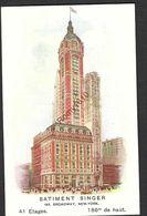Batiment Singer Broadway (New-York) - Pub Machine à Coudre Singer - - Publicité