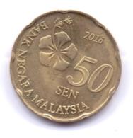 MALAYSIA 2016: 50 Sen, KM 204 - Malaysie