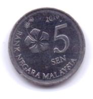 MALAYSIA 2016: 5 Sen, KM 201 - Malaysia