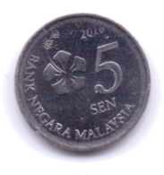 MALAYSIA 2016: 5 Sen, KM 201 - Malaysie