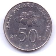 MALAYSIA 2009: 50 Sen, KM 53 - Malaysia
