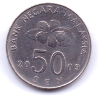 MALAYSIA 2009: 50 Sen, KM 53 - Malaysie