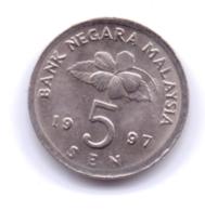 MALAYSIA 1997: 5 Sen, KM 50 - Malaysie