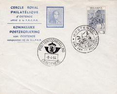 Enveloppe 1284 Koninklijke Postzegelkring Van Oostende Dag Van De Postzegel Posttentoonstelling - Belgien