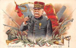 Général Joffre - Gal 1914-1915 - étendard Français - Obus - Canon - Fusil - Clairon - Médaille - Lunettes D'aproche - - War 1914-18
