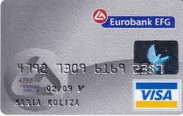 GREECE - Eurobank Visa(reverse Axalto, Tel : 210 9555000), 09/06, Used - Cartes De Crédit (expiration Min. 10 Ans)