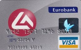 GREECE - Eurobank Visa(reverse Schlumberger Solaic, Tel : 1144), 06/02, Used - Cartes De Crédit (expiration Min. 10 Ans)