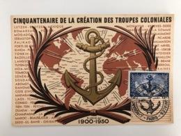 Ak Cp Cinquantenaire De La Creation Des Troupes Coloniales - Militares