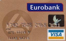 GREECE - Eurobank Gold Visa(reverse Schlumberger Solaic, Tel : 1144), 04/02, Used - Cartes De Crédit (expiration Min. 10 Ans)