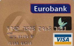 GREECE - Eurobank Gold Visa(reverse Schlumberger Solaic, Tel : 1144), 05/01, Used - Cartes De Crédit (expiration Min. 10 Ans)