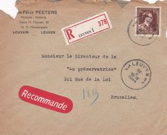 Enveloppe Recommandé Leuven 1 645 - Belgium
