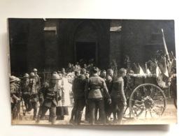 Foto Ak Cp Funeral Soldats Francais - War 1914-18