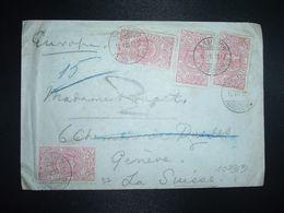 LETTRE Pour La SUISSE TP 1/2 GUERCHE X4 OBL.11 VIII 1912 ADDIS ABBEBA - Etiopia