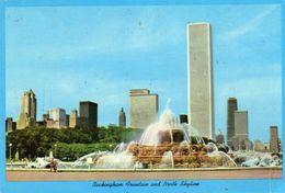 Buckingham Fountain And North Skyline  Chicago  Illinois - Aero Distributing Co Evanston - Chicago