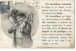 CPA,Th. Conte,  Un Travailleur Conscient ,ne Frappe Ni Un Enfant Ni Un Animal Illust. .A Boruddray, Ed. 1947 - Fairy Tales, Popular Stories & Legends
