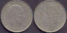 Norway 20 Kroner 2004 VF < Jern Banen 150 Ar > - Norvège