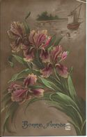 Carte Bonne Année - Bouquet D'Iris - New Year