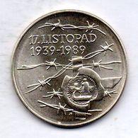 CZECHOSLOVAKIA, 100 Korun, Silver, Year 1989, KM #135 - Checoslovaquia