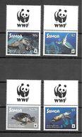 Samoa 2016 Animals - Turtles WWF + Label MNH - Turtles