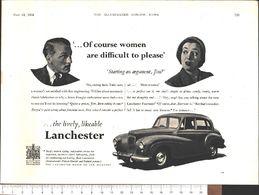 Advertising - Lancaster Motor Co. Ltd. - Pubblicità 1951 - Non Classés