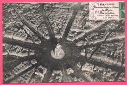 Paris - Panorama De La Place De L'Etoile Pris En Ballon - Oblitération Arc De Triomphe - 1912 - France