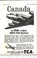 Advertising - Trans-Canada Air Lines - Pubblicità 1951 - Non Classés