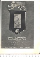 Advertising - Rolls Royce Aero Engines - Pubblicità 1951 - Non Classés