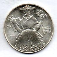 CZECHOSLOVAKIA, 500 Korun, Silver, Year 1988, KM #134 - Checoslovaquia
