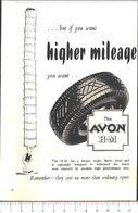 Advertising - Pneumatici Avon - Pubblicità 1951 - Non Classés