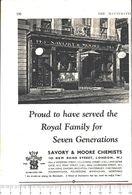 Advertising - Savory & Moore Chemists - Pubblicità 1951 - Non Classés