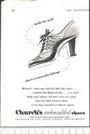 Advertising - Church's Archmoulded Shoes - Pubblicità 1951 - Non Classés