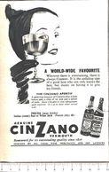 Advertising - Vermouth Cinzano - Pubblicità 1951 - Non Classés