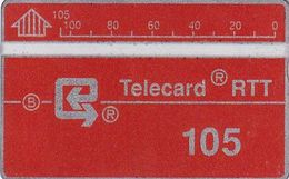 BELGIUM - RTT Telecard 105 Units(D 20), CN : 202D, Tirage 68000, 09/89, Used - Belgique