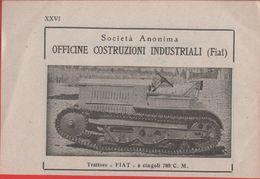 Advertising - Trattore FIAT A Cingoli OCI 708 CM -  1940 - Non Classés