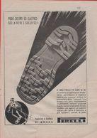 Advertising - Suole In Gomma Per Scarpe Da Sci. Pirelli -  1940 - Non Classés