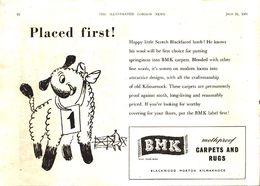 Advertising - BMK Carpets And Rugs - Pubblicità 1951 - Non Classés