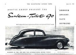 Advertising - Sunbeam-Talbot 90 - 1951 - Non Classés
