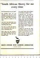 Advertising - South African Wine Farmers Association - 1951 - Non Classés