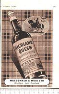 Advertising - Highlan Queen Whisky. Macdonal & Muir - 1951 - Non Classés