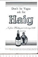 Advertising - Haig Whisky - 1951 - Non Classés