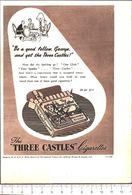 Advertising  - Three Castles Cigarettes - 1951 - Non Classés