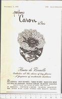 Advertising  - Caron Profumi - 1951 - Non Classés