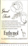 Advertising - Euthymol Dentifricio. Parker-Davis - 1951 - Non Classés
