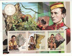 CENTRAFRIQUE - N°1460/2 ** (1998) Minéraux + Scouts - Minerals