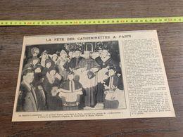 ANNEES 20/30 FETE DES CATHERINETTES A PARIS CARDINAL DUBOIS NOTRE DAME DE BONNE NOUVELLE - Sammlungen