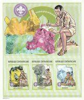CENTRAFRIQUE - N°1842/44 ** (2002) Minéraux + Scoutisme - Minerals