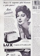 (pagine-pages)PUBBLICITA' LUX(+AVA GARDNER)  Oggi1954/49. - Livres, BD, Revues