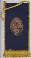 CROATIA  --  GLAVNI STOZER OS RH  --  16 Cm X 7,5 Cm  -  BANNER, PENNANT, DRAPEAU - Flags