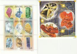 COMORES - N°824/32 + Bloc N°75 ** (1998) Minéraux - Minerals